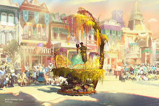 Disneyland Princess and the Frog Float Concept Art Magic Happens Parade