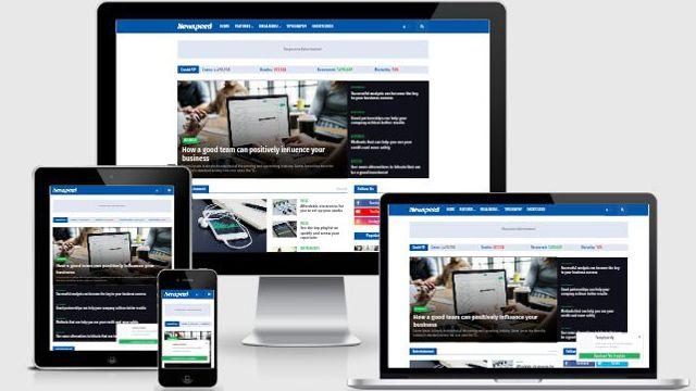 Template Newspeed Blogger