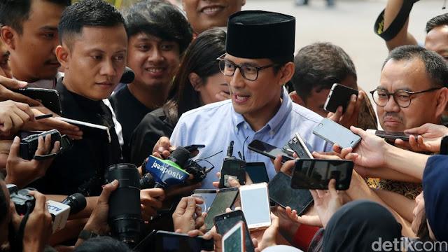Sandi soal Pertemuan dengan Jokowi: Pak Prabowo yang Atur