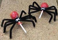 arañas con chupa chups