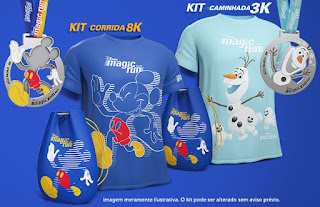 Kit coureur Disney Magic Run Sao Paulo 2018
