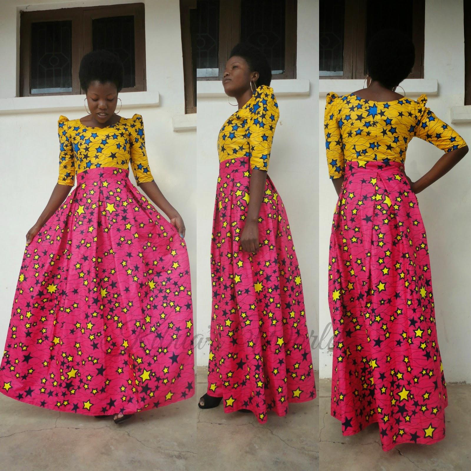 Kibua Designs: AFRICAN PRINT DRESS