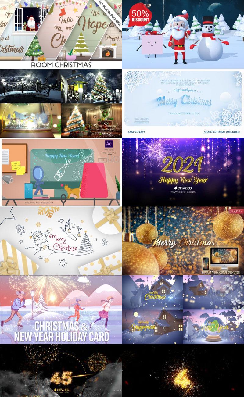 Videohive Master Vip AE Merry Christmas %2526 Happy New Year 2021