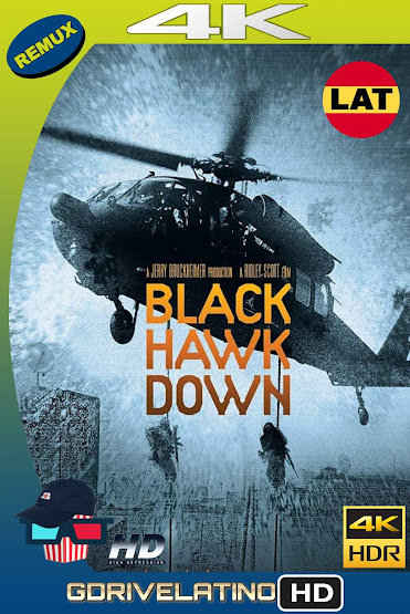 La Caída del Halcón Negro (2001) EXTENDED BDRemux 4K HDR Latino-Ingles MKV