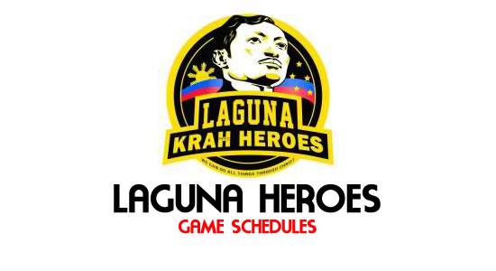 LIST: Game Schedule Laguna Heroes 2018 MPBL Anta Datu Cup