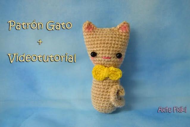 Aprende a Tejer con Patrón- Tutorial Gato Amigurumi a Crochet