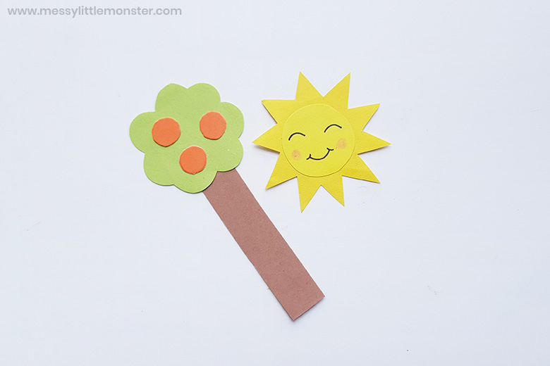 tree and sun template and craft
