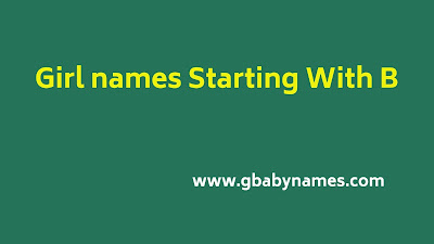 Girl Names starting with B