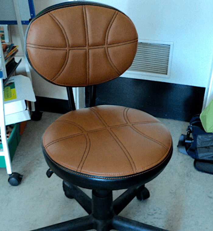 Classroom basketball chair