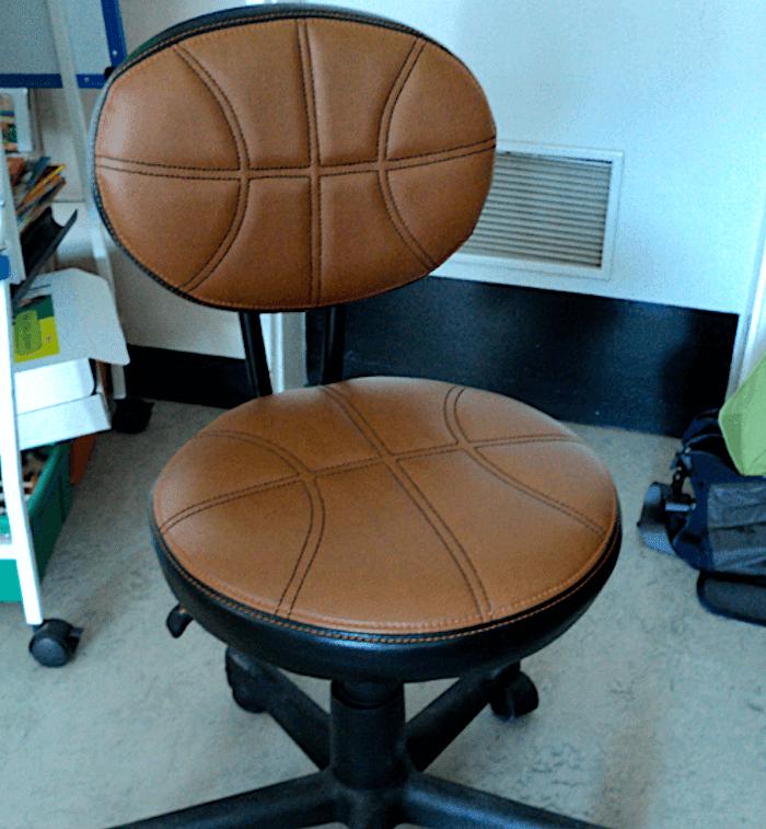 Classroom basketball chair