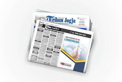 pasang Iklan Lowongan di koran Tribun Jogja