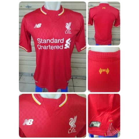 jual online jersey bola new balance liverpool Gambar photo jersey Liverpool home terbaru musim depan 2015/2016