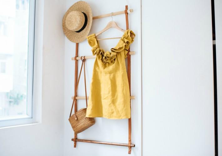 Una idea genial para el perchero de tu dormitorio