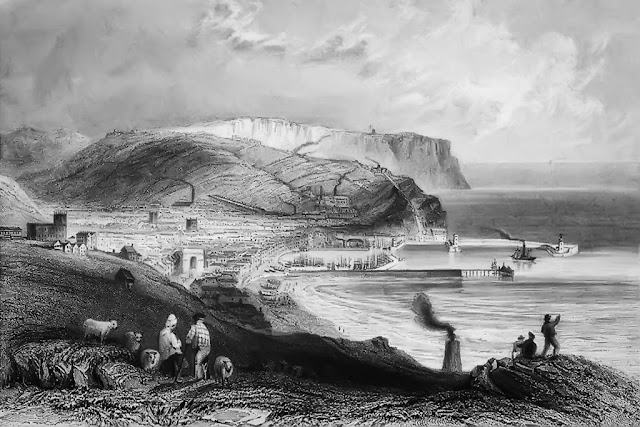 Whitehaven, 1840. A Painting By William Bartlett