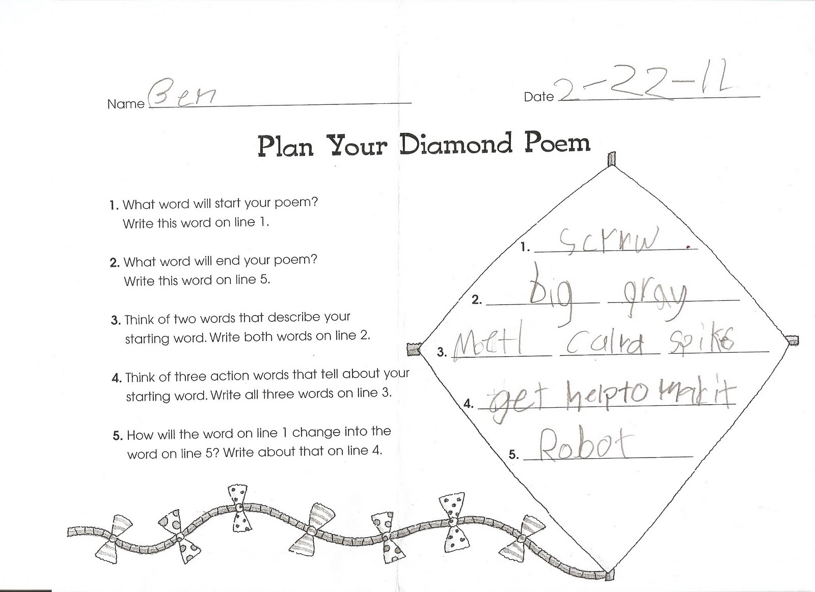 Search Results For Diamond 9 Worksheet Calendar