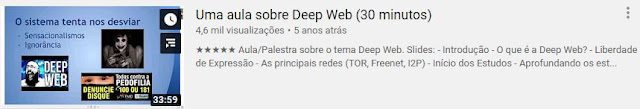 Aula sobre DeepWeb