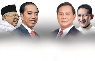 Pilpres 2019: Jokowi-Ma'ruf Amin vs Prabowo-Sandi