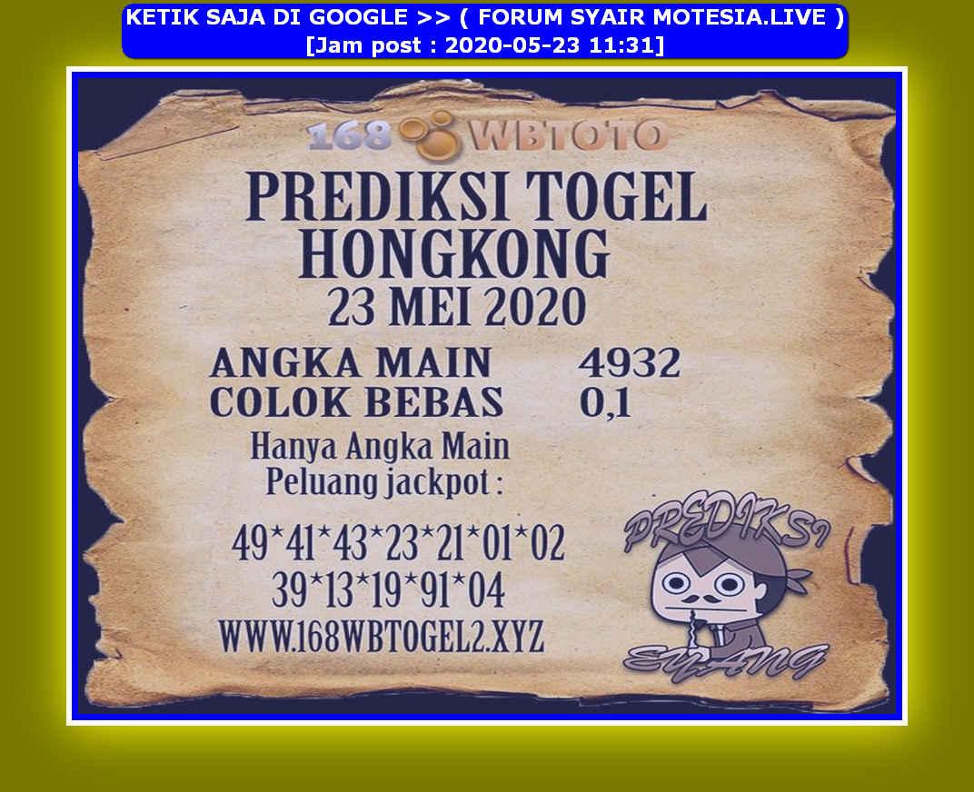 Kode syair Hongkong Sabtu 23 Mei 2020 235
