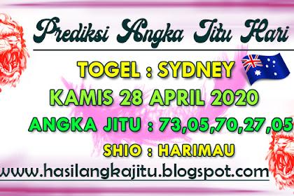 Prediksi Angka Jitu Togel Sydney Selasa 28 April 2020