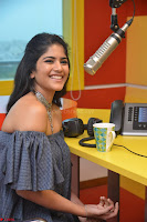 Mega Akash in a sleeveless Off Shoulder Cute Dress Stunnign beauty at Radio Mirchi Promoting Movie LIE ~ Celebrities Galleries 049.JPG