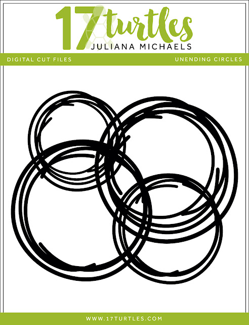 Unending Circles Free Digital Cut File by Juliana Michaels 17turtles.com