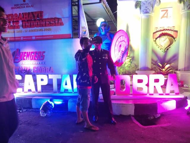 Icon Captain Cobra Superhero Lumajang Serap Antusiasme Masyarakat Untuk Berselfi