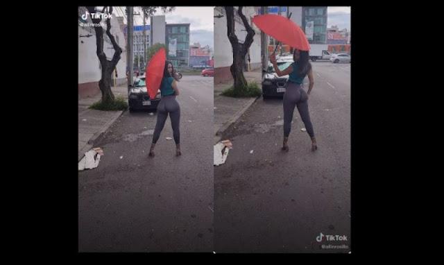Allin la chica que provoca intenso trafico sobre calzada de Tlalpan  (VIDEO)