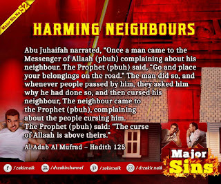 MAJOR SIN. 52.2. HARMING NEIGHBOURS