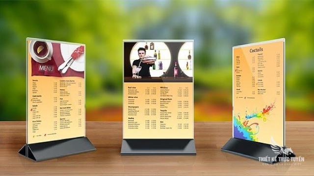 Địa điểm thiết kế menu ở sài gòn
