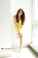 Actress Model Ihana Dhillon Poshoot Gallery in Yellow Lace Short Dress  0033.jpg