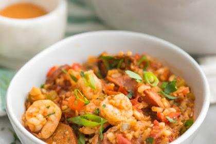Healthy Jambalaya (Whole30, Low Carb, Paleo) #healthyfood #dietketo