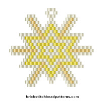 Free brick stitch bead weaving Christmas pattern