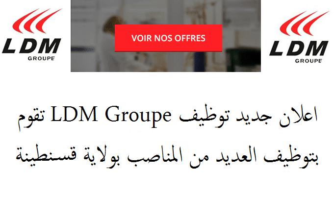 اعلان توظيف بشركة LDM Groupe