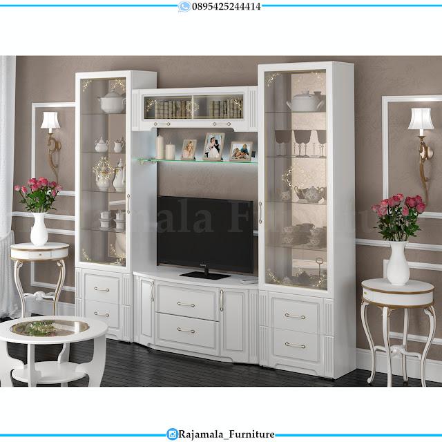 Jual Bufet TV Mewah Classic Luxury Design Furniture Jepara RM-0395