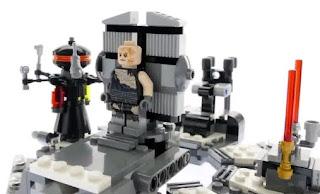lego star wars 75183 darth vader transformation Anakin Skywalker and medical droid minifigures details