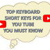 Keyboard shortcuts for YouTube -Paklink360