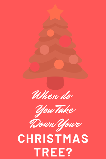 When should you be taking your Christmas tree down.