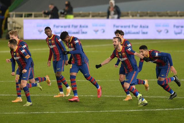 تشكيلة برشلونة أمام أتلتيك بلباو في نهائي كأس السوبر الإسباني