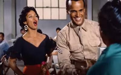 Dorothy Dandridge and Harry Belafonte, in a scene from Carmen Jones (1954)