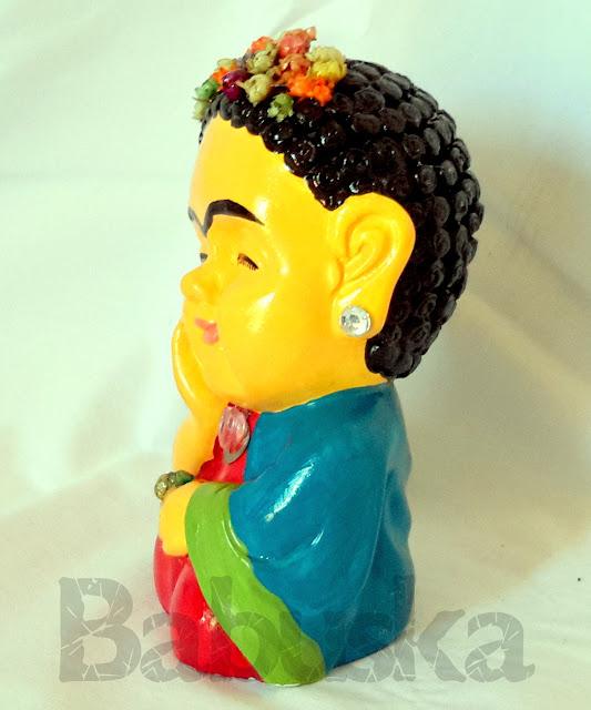 """Buda """"Frida Kahlo"""", pintado y laqueado a mano (B1020) Babuska"""