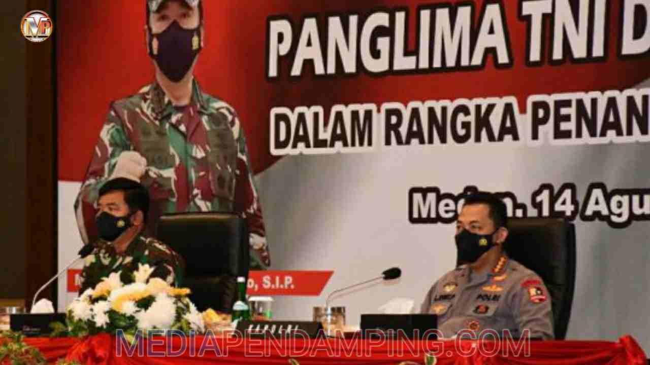 Panglima TNI dan Kapolri Pimpin Rakor Percepatan Penanganan Covid-19 Provinsi Sumut