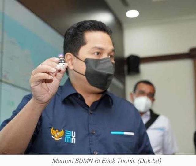 Polemik Vaksin 'Gratis-Bayar', Menteri BUMN Keluarkan Pernyataan.