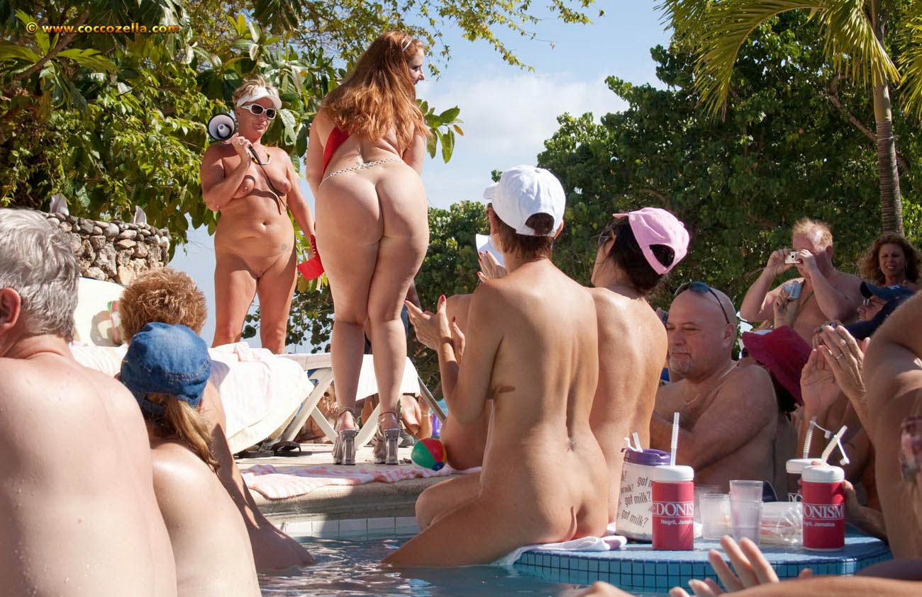 Nudism family beach pageant that