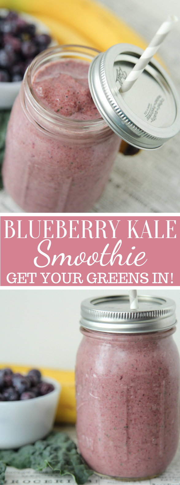 BLUEBERRY KALE SMOOTHIE – GET YOUR GREENS IN! #drink #healthydrink