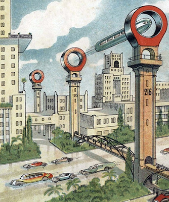 Early 20th Century Depiction of a Futuristic City