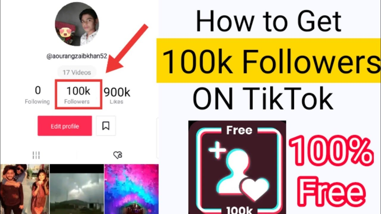 Get Tiktok 100K Followers, 100k Likes, 100k Views For Free! Working [2021]