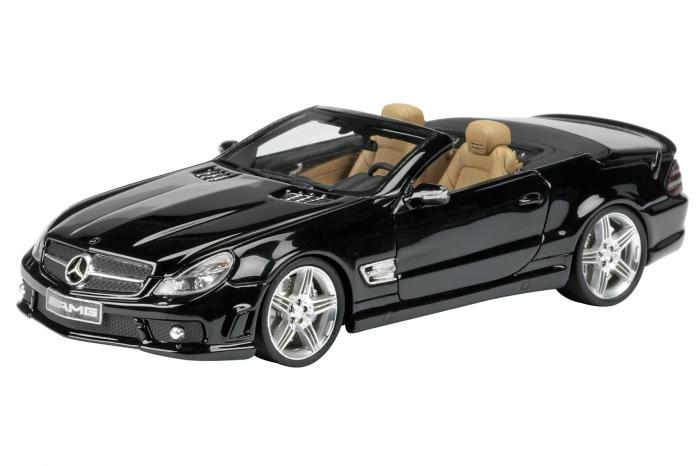 museo 1 43 mercedes benz sl 65 amg cabrio by schuco. Black Bedroom Furniture Sets. Home Design Ideas