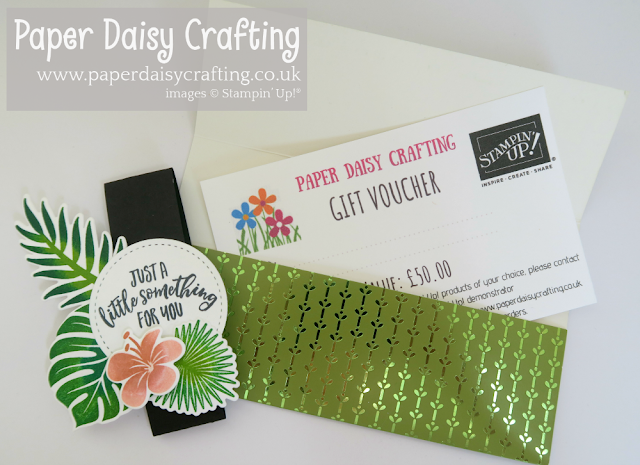 Tropical Chic Stampin Up Gift Voucher
