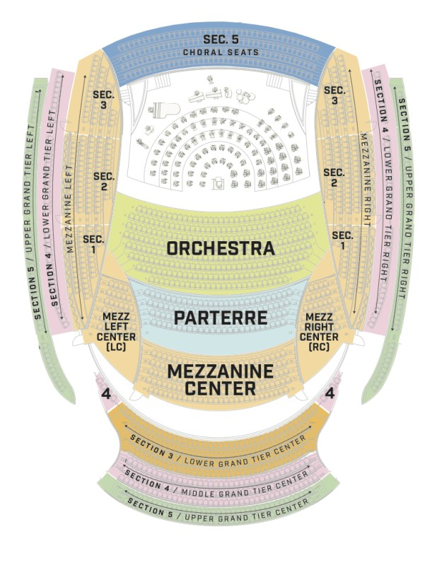 Awesome Kauffman Center Seating Chart With Rows Seating Chart