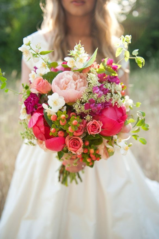 Perfect  boho wedding spring or summer rose wedding bouquet
